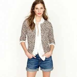 J. Crew Animal Print Brown & White  100% Wool
